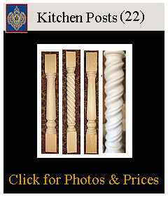 kitchen posts rope, fluted, plain smooth posts